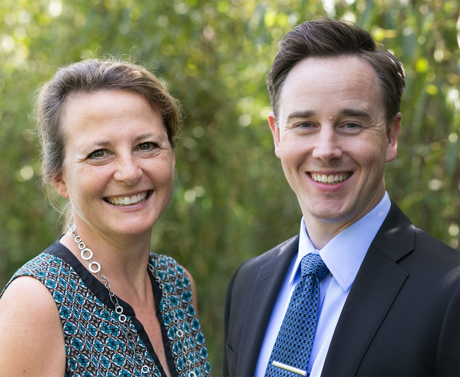 Photo of Dr. Woloshyn and Dr. Nordberg